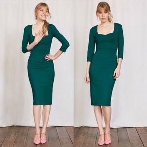 Boden Green Rebecca Ponte Dress